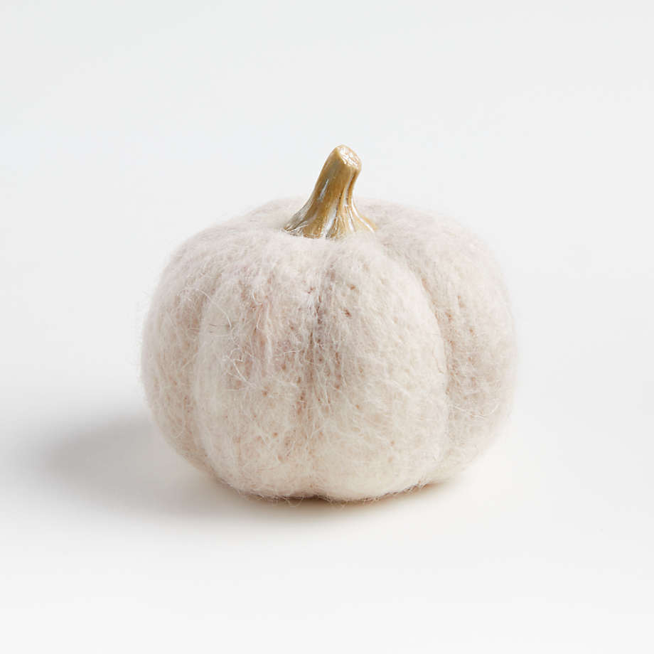 wool pumpkin for fall decor