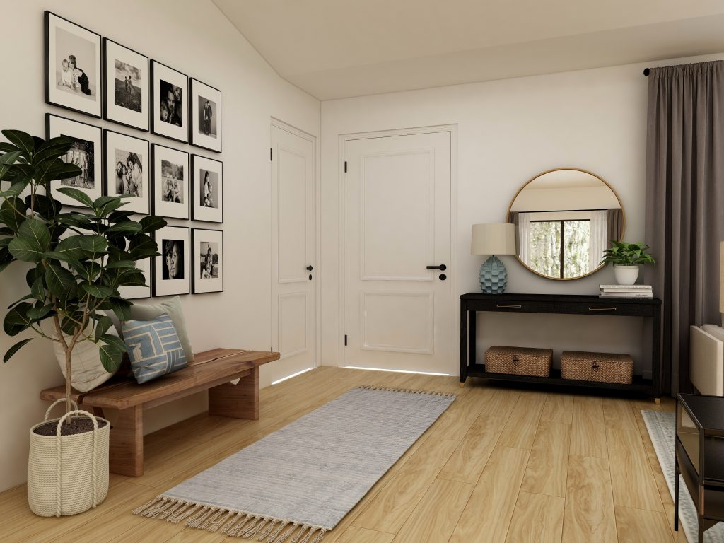 clean entryway to welcome buyers during home showings