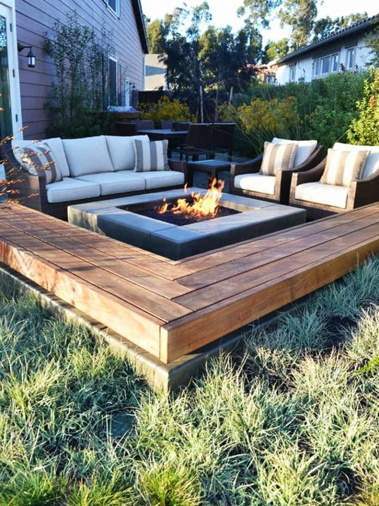 create a fire pit with seating for your summer yard project homeowners